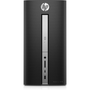 HP Pavilion 570-P054 Mini Tower Desktop (Intel Core i3-7100 4GB RAM, 1TB HDD, Windows 10)