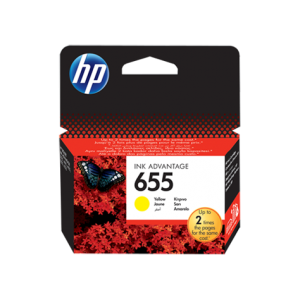 HP 655 Yellow Original Ink Advantage Cartridge CCZ112AE)