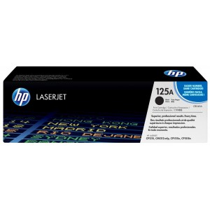 HP 125A Black Original LaserJet Toner Cartridge (CB540A)