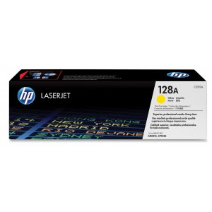 HP 128A Yellow Original LaserJet Toner Cartridge (CE322A)